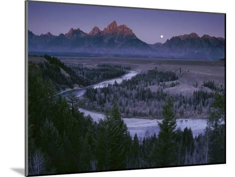 Dawn Strikes the High Ridge of the Teton Range-Raymond Gehman-Mounted Photographic Print