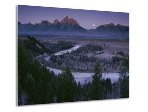 Dawn Strikes the High Ridge of the Teton Range-Raymond Gehman-Metal Print