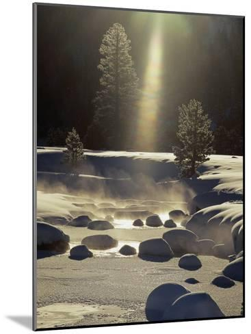 Steam Rises off the Snow-Covered River-Phil Schermeister-Mounted Photographic Print