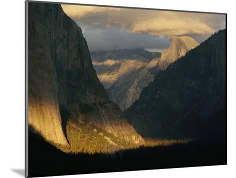 Sunlight Shines on Yosemite Valley-Phil Schermeister-Mounted Photographic Print