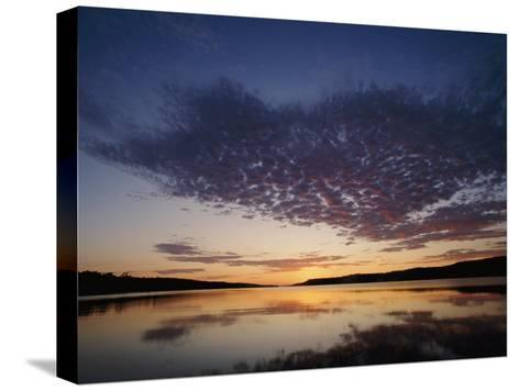 A View of the Lake at Sunset-Phil Schermeister-Stretched Canvas Print