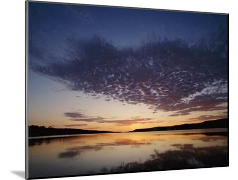 A View of the Lake at Sunset-Phil Schermeister-Mounted Photographic Print