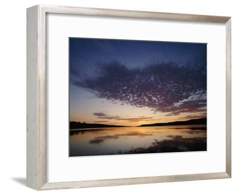 A View of the Lake at Sunset-Phil Schermeister-Framed Art Print