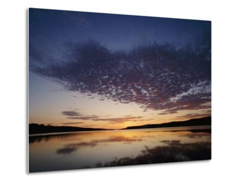 A View of the Lake at Sunset-Phil Schermeister-Metal Print