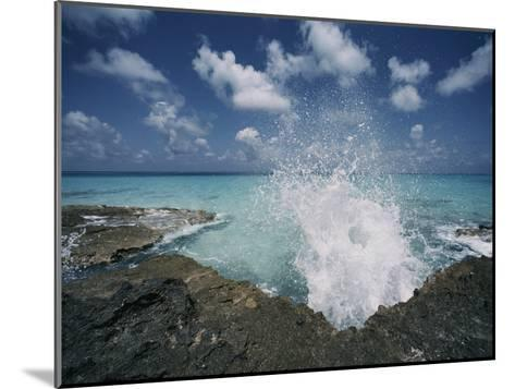 A Spray of Water Upon a Rocky Coast-Kenneth Garrett-Mounted Photographic Print