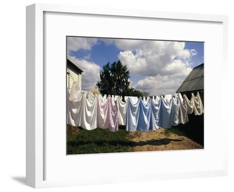 Laundry on a Clothesline-Steve Raymer-Framed Art Print