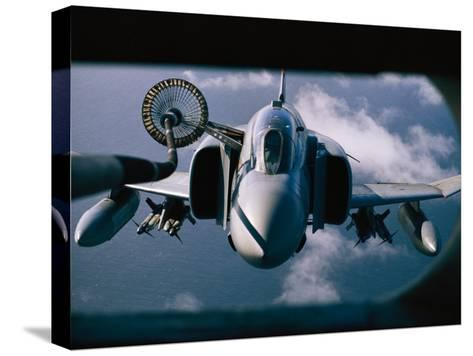 Refueling Operation over the Falklands-Steve Raymer-Stretched Canvas Print