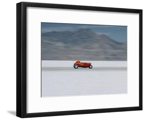 Speed Trials on the Bonneville Salt Flats-Walter Meayers Edwards-Framed Art Print