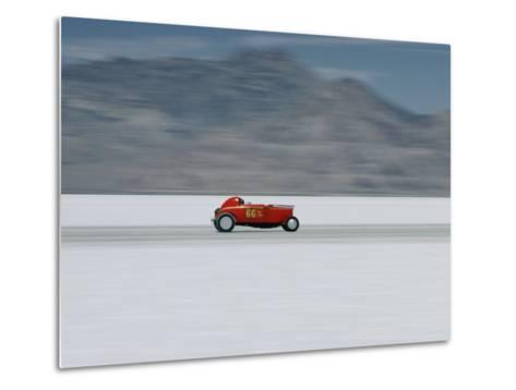 Speed Trials on the Bonneville Salt Flats-Walter Meayers Edwards-Metal Print