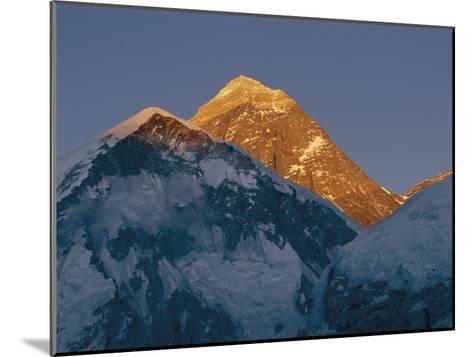 Mount Everest is Seen in the Evening Light-Bobby Model-Mounted Photographic Print