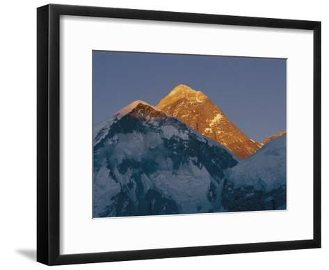 Mount Everest is Seen in the Evening Light-Bobby Model-Framed Art Print