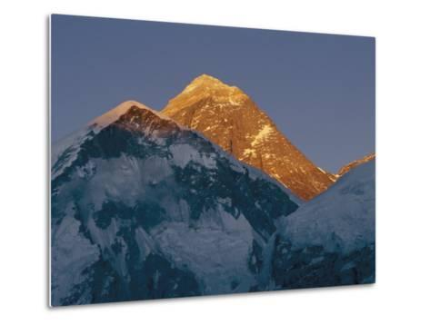 Mount Everest is Seen in the Evening Light-Bobby Model-Metal Print