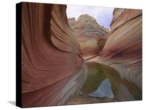 Erosion Has Created a Swirling Pattern in the Rocks-Melissa Farlow-Stretched Canvas Print