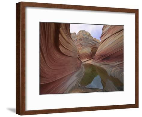 Erosion Has Created a Swirling Pattern in the Rocks-Melissa Farlow-Framed Art Print