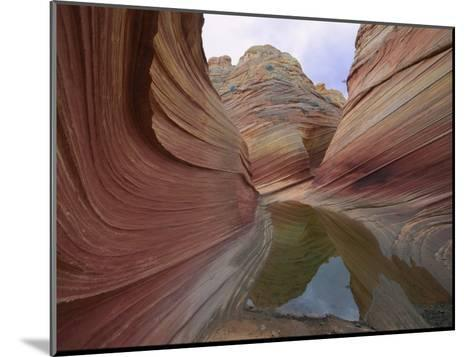 Erosion Has Created a Swirling Pattern in the Rocks-Melissa Farlow-Mounted Photographic Print