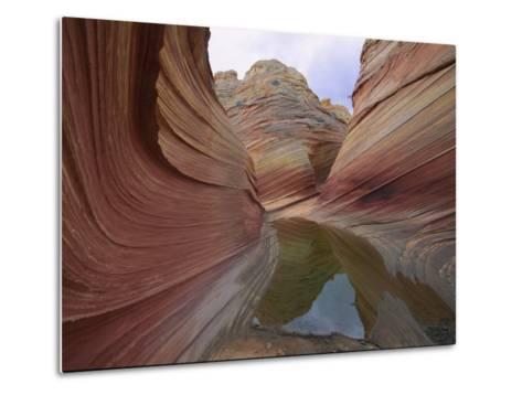 Erosion Has Created a Swirling Pattern in the Rocks-Melissa Farlow-Metal Print