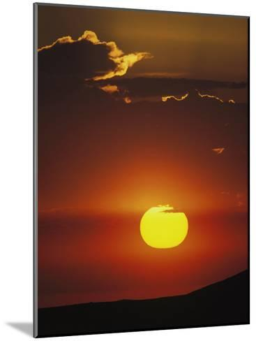 Sun and Clouds at Sunrise, Yellowstone National Park, Wyoming-Raymond Gehman-Mounted Photographic Print