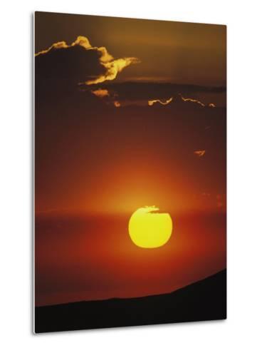 Sun and Clouds at Sunrise, Yellowstone National Park, Wyoming-Raymond Gehman-Metal Print