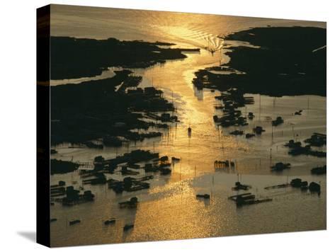 Aerial Shot, Tangier Island, Chesapeake Bay, Virginia-Skip Brown-Stretched Canvas Print