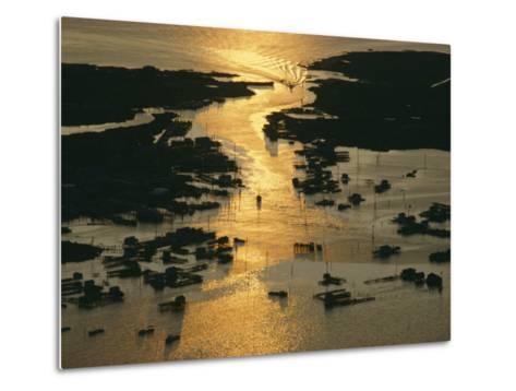 Aerial Shot, Tangier Island, Chesapeake Bay, Virginia-Skip Brown-Metal Print