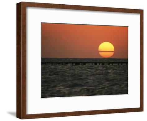 Sunset on the Water at Key West-Bill Curtsinger-Framed Art Print