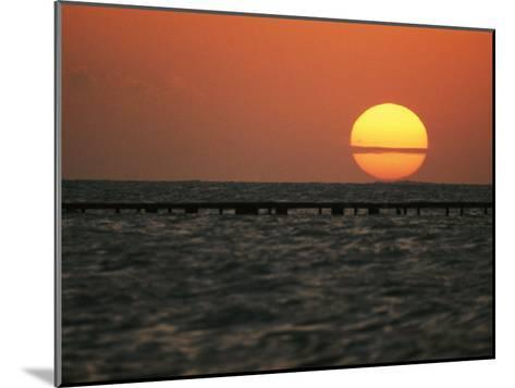 Sunset on the Water at Key West-Bill Curtsinger-Mounted Photographic Print