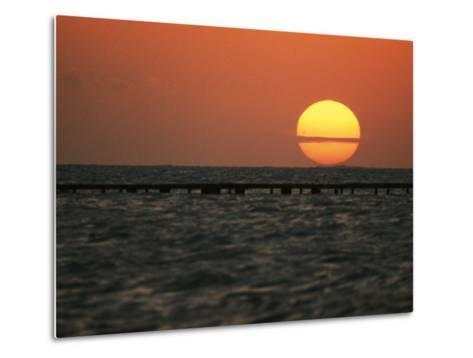 Sunset on the Water at Key West-Bill Curtsinger-Metal Print
