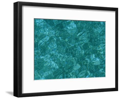 A Detail of Sun-Dappled, Clear Blue Water-Heather Perry-Framed Art Print