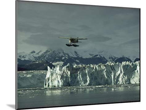 A Floatplane Traverses Columbia Glacier and Prince William Sound-George F^ Mobley-Mounted Photographic Print