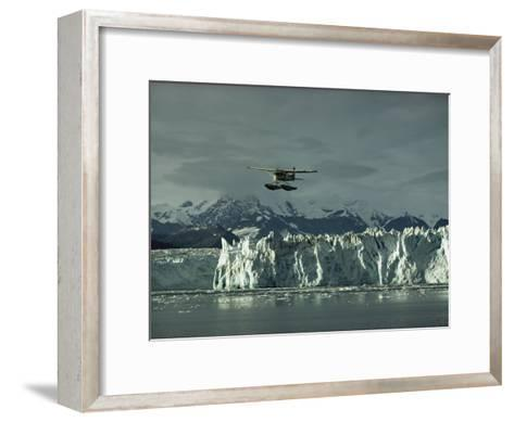A Floatplane Traverses Columbia Glacier and Prince William Sound-George F^ Mobley-Framed Art Print