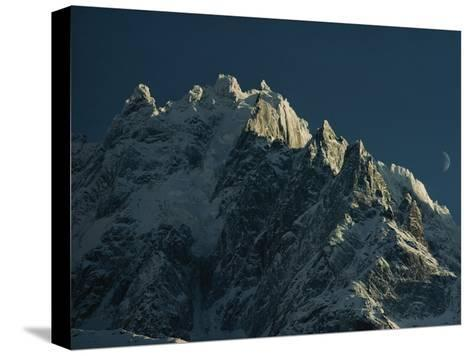 Mont Blanc at Evening with Ridgeline Seen against Sky-George F^ Mobley-Stretched Canvas Print