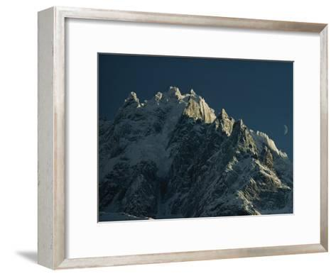 Mont Blanc at Evening with Ridgeline Seen against Sky-George F^ Mobley-Framed Art Print