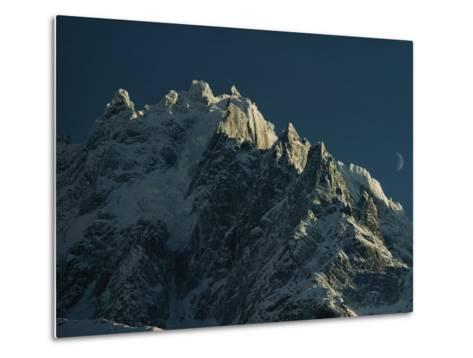 Mont Blanc at Evening with Ridgeline Seen against Sky-George F^ Mobley-Metal Print