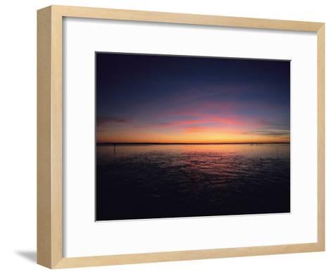 Sunset Near North Carolinas Outer Banks-Steve Winter-Framed Art Print