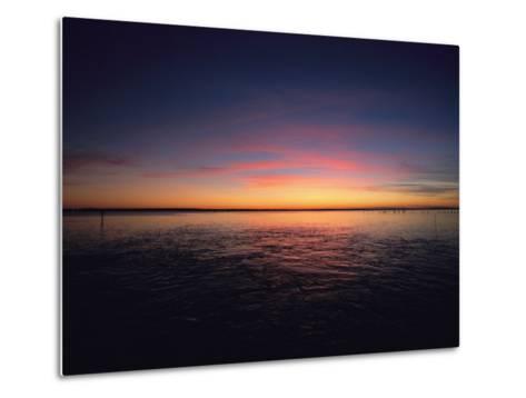 Sunset Near North Carolinas Outer Banks-Steve Winter-Metal Print