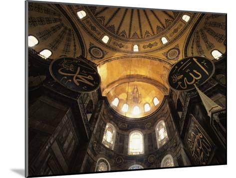 Interior View Looking up Towards the Dome of the Hagia Sophia-Steve Winter-Mounted Photographic Print