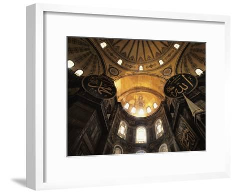Interior View Looking up Towards the Dome of the Hagia Sophia-Steve Winter-Framed Art Print