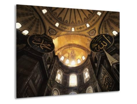 Interior View Looking up Towards the Dome of the Hagia Sophia-Steve Winter-Metal Print