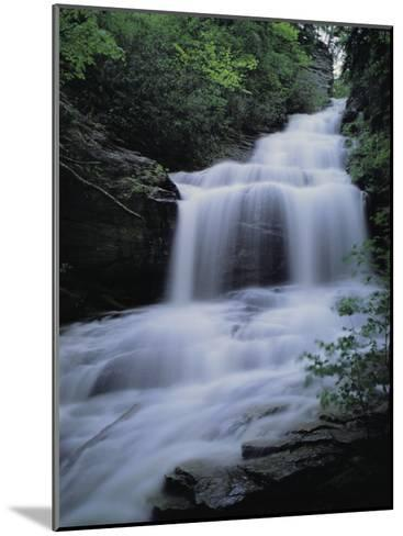 Upper Cascades Falls Flows Down a Mountain in Hanging Rock State Park-Raymond Gehman-Mounted Photographic Print