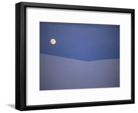 The Moon Rises over a Sand Dune in White Sands National Monument-Raul Touzon-Framed Art Print