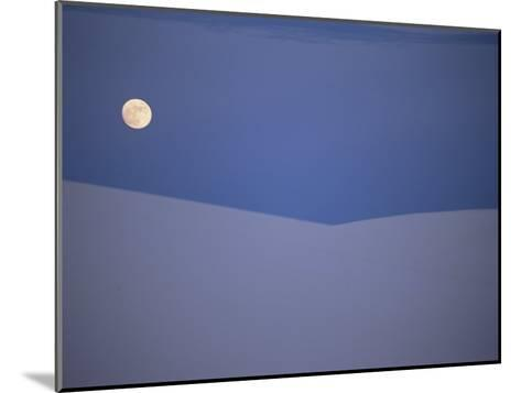 The Moon Rises over a Sand Dune in White Sands National Monument-Raul Touzon-Mounted Photographic Print
