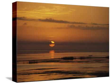 Sunset over Lake Okeechobee-Medford Taylor-Stretched Canvas Print