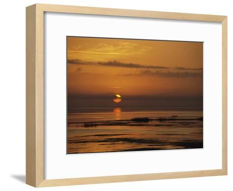 Sunset over Lake Okeechobee-Medford Taylor-Framed Art Print