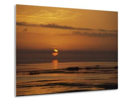 Sunset over Lake Okeechobee-Medford Taylor-Metal Print