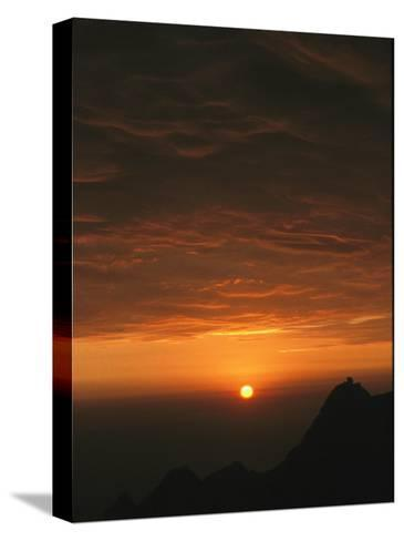Dramatic High Altitude Sunset in the Andes Mountains-David Evans-Stretched Canvas Print