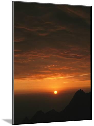 Dramatic High Altitude Sunset in the Andes Mountains-David Evans-Mounted Photographic Print