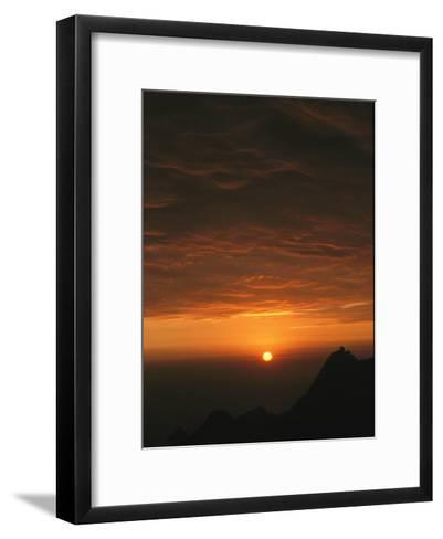 Dramatic High Altitude Sunset in the Andes Mountains-David Evans-Framed Art Print