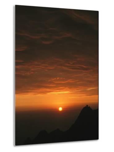 Dramatic High Altitude Sunset in the Andes Mountains-David Evans-Metal Print