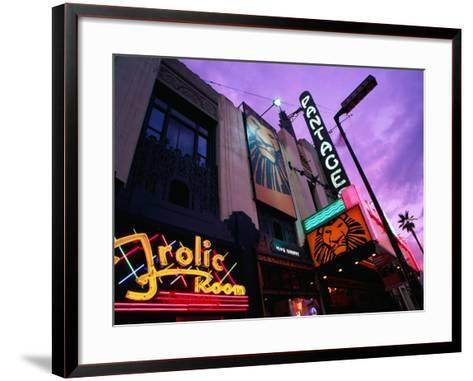 Panatages Theatre in Hollywood, Los Angeles, United States of America-Richard Cummins-Framed Art Print