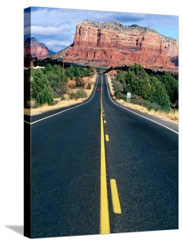 Road Into Sedona, Sedona, U.S.A.-Ann Cecil-Stretched Canvas Print
